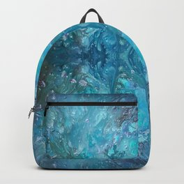 Blue Abstract Background Backpack