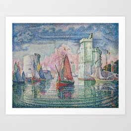 Entrance to the Port of La Rochelle Art Print