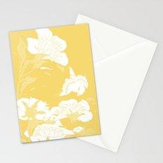 japanese flowers. Marigold Yellow Stationery Cards