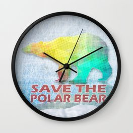 SAVE THE POLAR BEAR Wall Clock