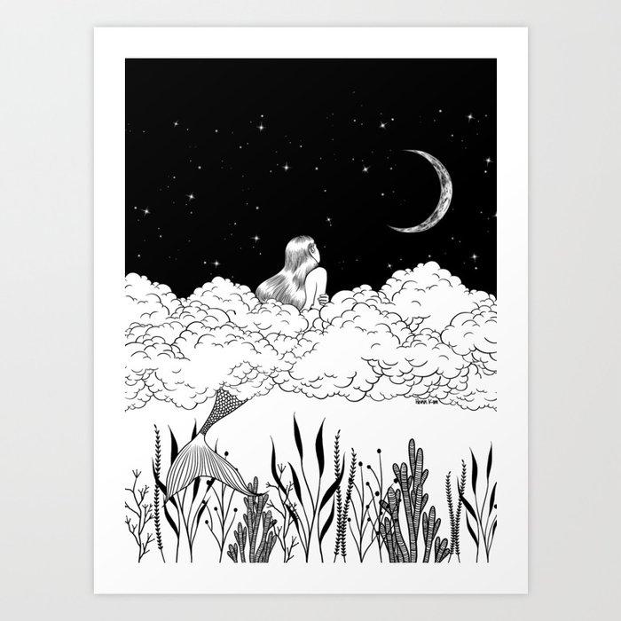 Moon River Art Print