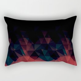 Gradient black and red Rectangular Pillow