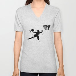 Slam dunk Basketballer Unisex V-Neck