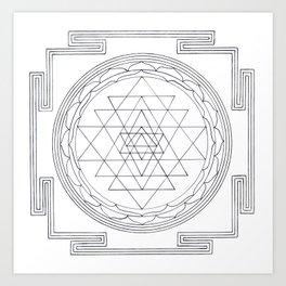 Sri chakra Art Print