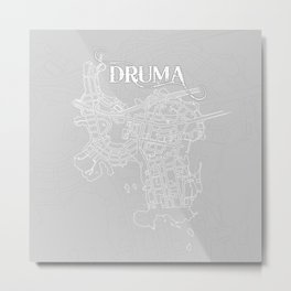 DRUMA Grey Metal Print