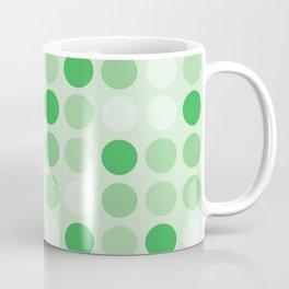 Retro Bold Green And White Polka Dot Spot Print - Dots / Spotted Pattern Coffee Mug