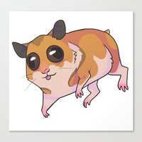 hamster Canvas Prints featuring Hamster by Suzanne Annaars