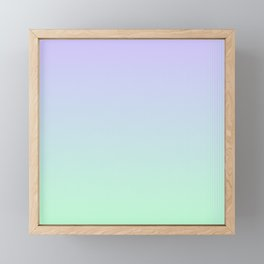 Mint Green and Lavender Ombre - Flipped Framed Mini Art Print