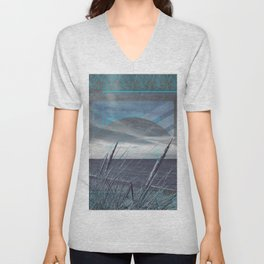 Before the Storm - blue graphic Unisex V-Neck