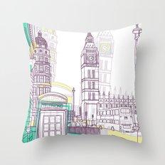 Lovely London Throw Pillow