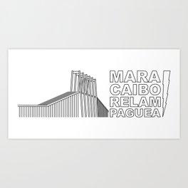 Maracaibo Relampaguea Art Print