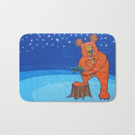 The bear . Bath Mat
