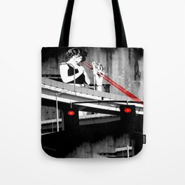 Stop the Freeway Overpass Scales Madness! Tote Bag