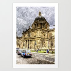 St Paul's Cathedral London Sketch Art Print