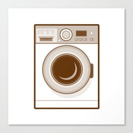 Retro Washing Machine Canvas Print