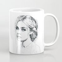 fashion illustration Mugs featuring Fashion Illustration by Kasi Turpin