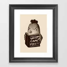 Chicken Who Came First Framed Art Print