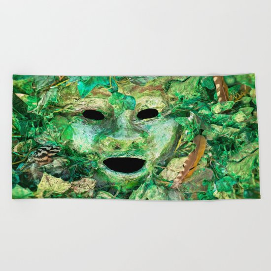 MASKED Beach Towel