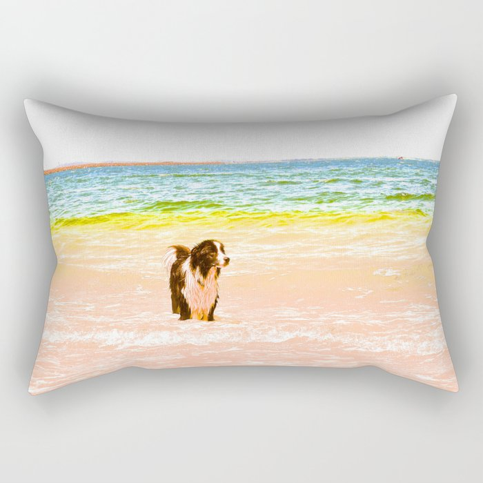 Candy Dog Rectangular Pillow