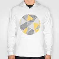 yellow pattern Hoodies featuring Pattern, grey - yellow by Lindella