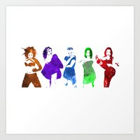 spice girls Art Prints featuring The Spice Girls by Greg21