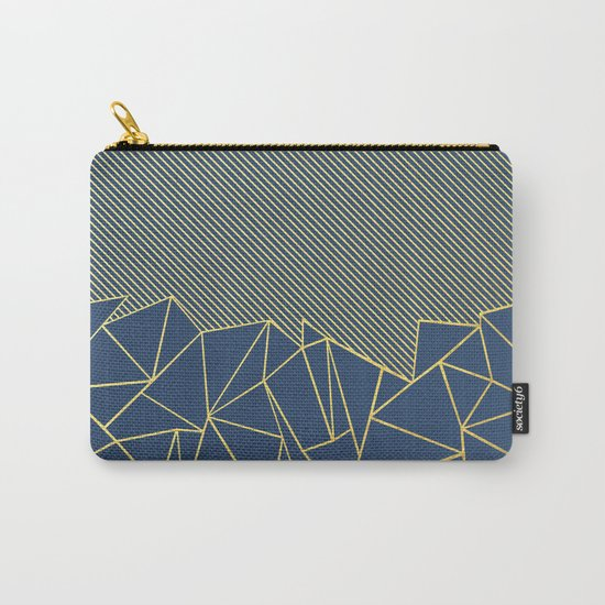 Ab Lines 45 Navy and Gold Carry-All Pouch