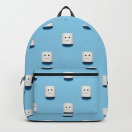 Smiling and happy toilet paper pattern Backpack