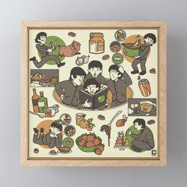 Fab Four Cookbook Framed Mini Art Print