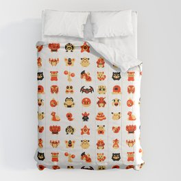 The Boys Are Back In Town Comforters