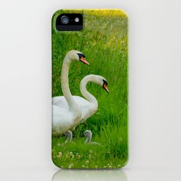 Swans Family iPhone Case