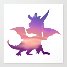 Spyro Lofty Castle Skybox Canvas Print
