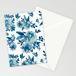 Baby Blues Watercolor Florals Stationery Cards