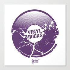 Vinyl Rocks Canvas Print