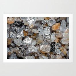 Singing beach sand under a microscope Art Print