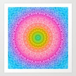 mandala dahlia Art Print