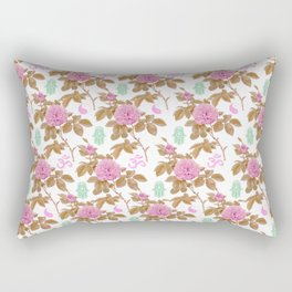 Floral Hamsa Rectangular Pillow