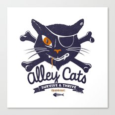 Alley Cats Canvas Print