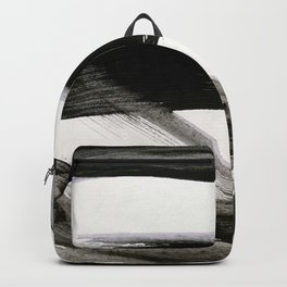 Brushstroke 9: a bold, minimal, black and white abstract piece Backpack