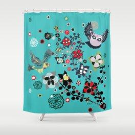 owl and lark Shower Curtain