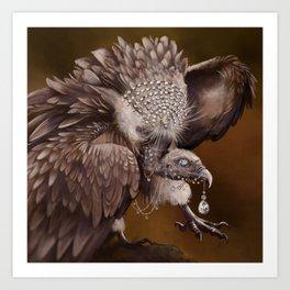 Necrophagy: Himilayan Vulture Art Print