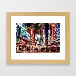 City Lights, the BIG apple! Framed Art Print