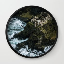 Castle ruin by the irish sea - Landscape Photography Wall Clock
