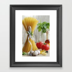 delicious pasta Framed Art Print