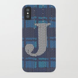 Winter clothes. Letter J. iPhone Case