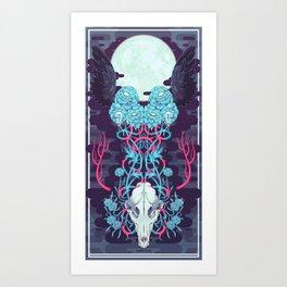 OUTFOX DEATH Art Print