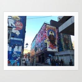 Dublin City Streets Art Print