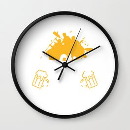 Funny Rafter Weekend Forecast Rafting With Beer Drinking Wall Clock