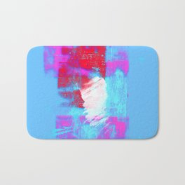 abstract blue pink Bath Mat
