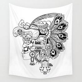 Mayan Warrior Wall Tapestry