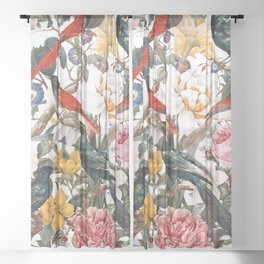 Floral and Birds XXXV Sheer Curtain